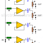 1 Input - 4 Outputs Stereo Audio Splitter