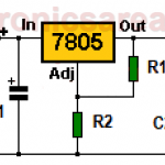 12 volt Power Supply using 7805 regulator