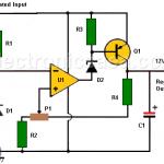 12V Power Supply using Zener and 741 Op. Amp.