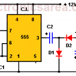 12V to -12V DC converter circuit using 555