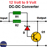 12V to 9V DC Converter Circuit Diagram (PCB)
