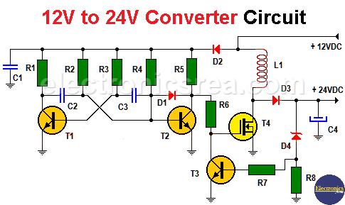 12v to 24v converter circuit - 12v to 24v step up converter circuit