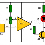 2 LED Temperature Change Indicator with LM35 & 741