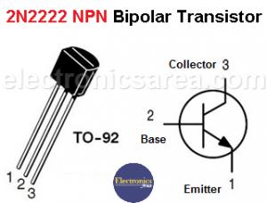 2n2222 NPN Bipolar Transistor Pin Out
