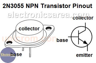 2N3055 NPN Transistor pinout