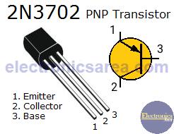 2N3702 PNP transistor pinout
