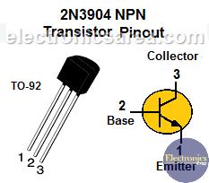 2N3904 NPN Transistor Pinout