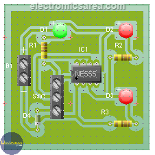 555 IC Tester Circuit PCB Final Appereance