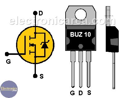 BUZ10 Power FET Transistor pinout