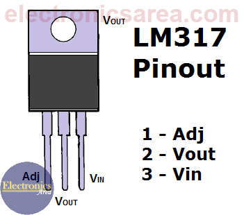 LM317 voltage regulator pinout
