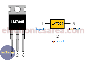 LM7805 voltage regulator Pinout