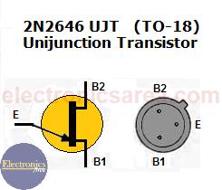 2646 UJT pinout (Unijunction Transistor)