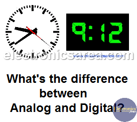 Difference between Analog and Digital