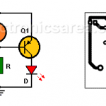 Automatic night light circuit with one LED