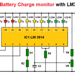Battery Charge Monitor Circuit with LM3914 IC