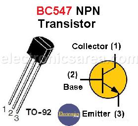 BC547 NPN Transistor PinOut