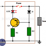 Blown Fuse Indicator Circuit using one transistor
