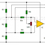 Continuity tester using 741 IC