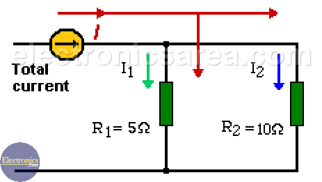 Current Divider in Parallel Resistors