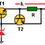 Current Limiter for Voltage Regulator using Transistor
