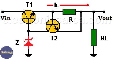 Current Limiter for Voltage Regulator using Transistor