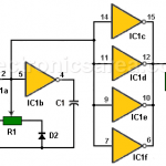 DC Motor Speed Control with 4049