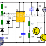 DC motor speed controller circuit using 555