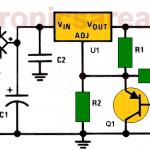 Delayed activation 15V voltage source using LM317