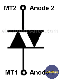 DIAC Symbol and pin out