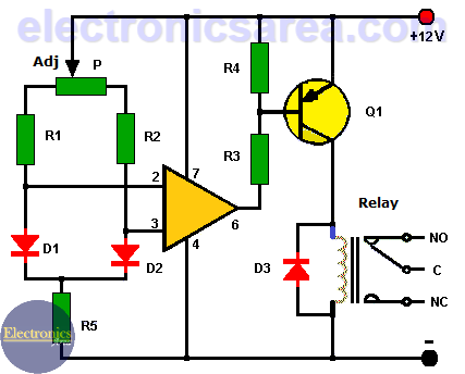 Differential Temperature Controller Circuit
