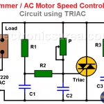 Dimmer / AC Motor Speed Controller Circuit using TRIAC