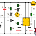 Electronic Music Metronome circuit using a 555 timer