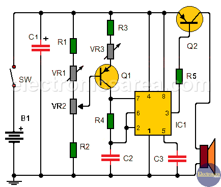 Electronic Music Metronome Circuit using the 555 timer
