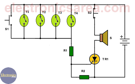 alarm circuit electronic schematics collections