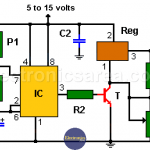 High current 555 pulse Generator using a Voltage Regulator