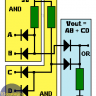 OR and AND logic gates made with diodes
