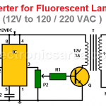 Inverter for Fluorescent Lamps (12V to 120 / 220 VAC )