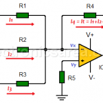 Inverting Summing Amplifier using Op Amp