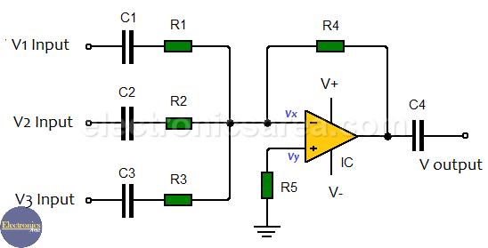 AC Inverting Summing Amplifier