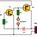 Lie Detector Circuit Using Two Transistors