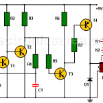 Light detector circuit using transistors and relay