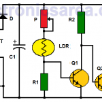 Light Operated Relay Circuit using LDR / Photoresistor