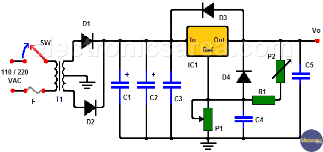 LM350 Adjustable Voltage Regulator (Variable Power Supply)