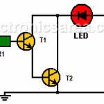 How to Build a Logic Probe using two transistors? (PCB)