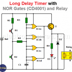 Long Duration Timer with NOR Gates (CD4001)