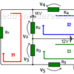 Mesh Current Method in a Resistor Network