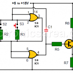 Multitone generator circuit - Open door indicator using CD4001