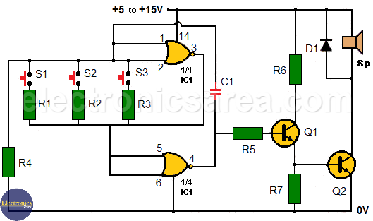 Multitone generator circuit - Open door indicator
