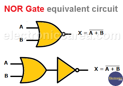NOR gate equivalent circuit