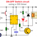 ON-OFF Switch circuit using a 555 timer (PCB)